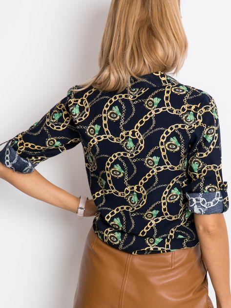 Granatowa koszula Glaze                              zdj.                              2
