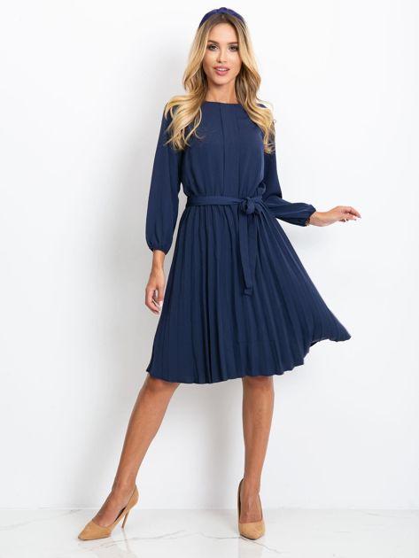 Granatowa sukienka Dakota                              zdj.                              4