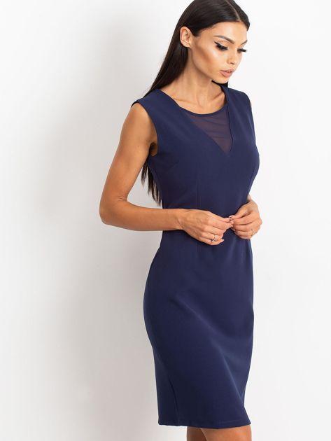 Granatowa sukienka Theme                              zdj.                              3
