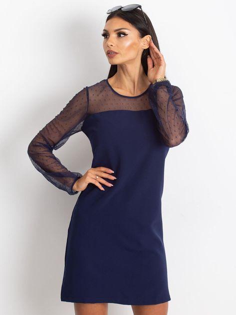 Granatowa sukienka Vanity                              zdj.                              5
