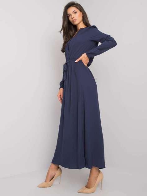 Granatowa sukienka maxi Nahila FRESH MADE