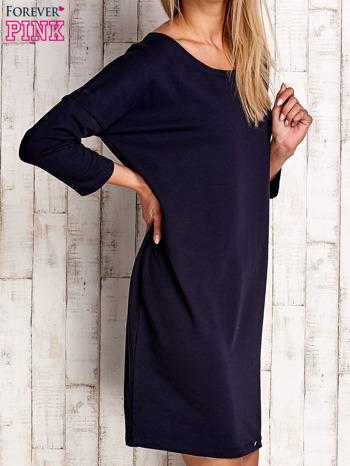 Granatowa sukienka oversize                                  zdj.                                  3