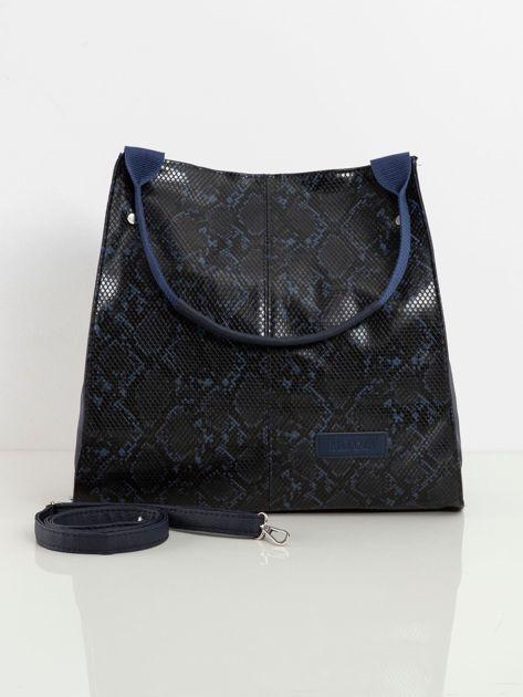Granatowa torba miejska