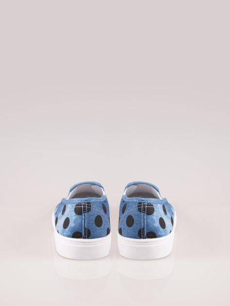 Granatowe buty slip on w groszki                                  zdj.                                  3