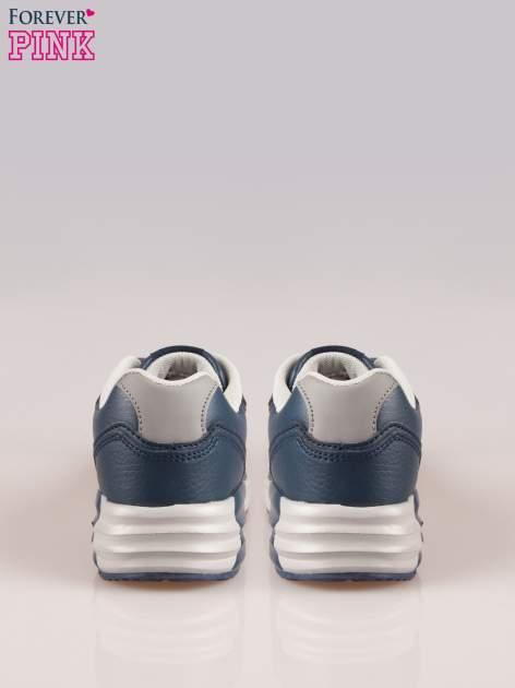 Granatowe buty sportowe z poduszką powietrzną w podeszwie                                  zdj.                                  3