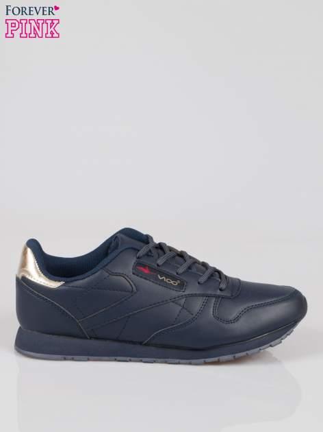 Granatowe buty sportowe ze złotym zapiętkiem                                  zdj.                                  1