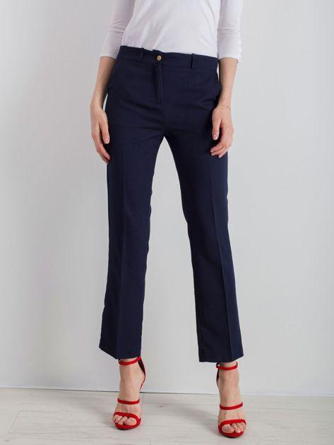 Granatowe eleganckie spodnie                              zdj.                              1