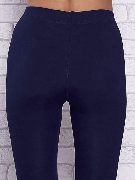 Granatowe gładkie legginsy                                  zdj.                                  6