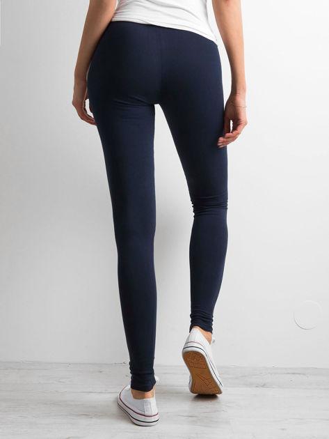 Granatowe legginsy Basic                              zdj.                              2