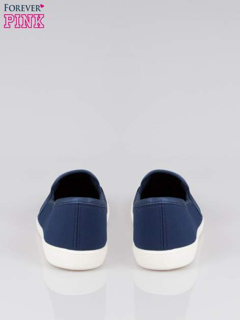 Granatowe lekkie buty sliponki                                  zdj.                                  3