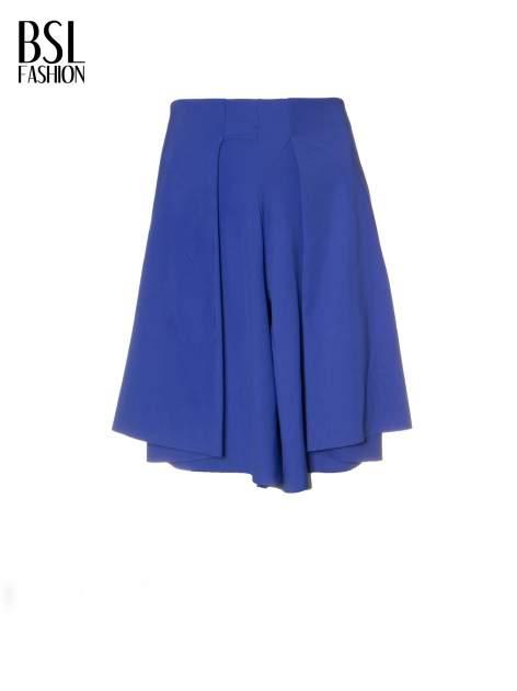 Granatowe spódnicospodnie z zakładkami                                  zdj.                                  8