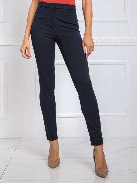 Granatowe spodnie Bree RUE PARIS