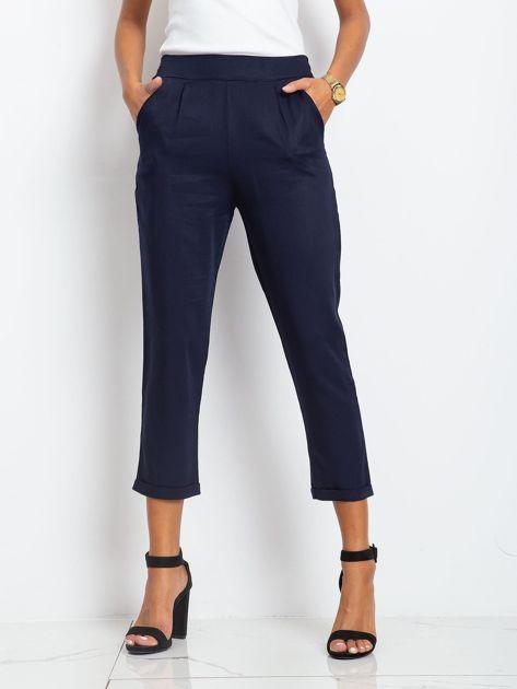 Granatowe spodnie Gift