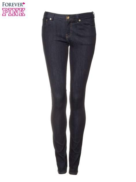 Granatowe spodnie jeansowe rurki                                   zdj.                                  5