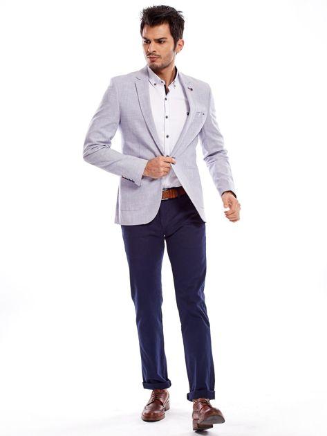 Granatowe spodnie męskie regular                              zdj.                              18