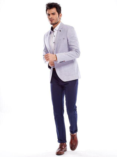 Granatowe spodnie męskie regular                              zdj.                              19