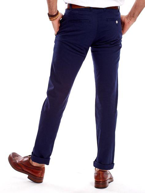 Granatowe spodnie męskie regular                              zdj.                              9