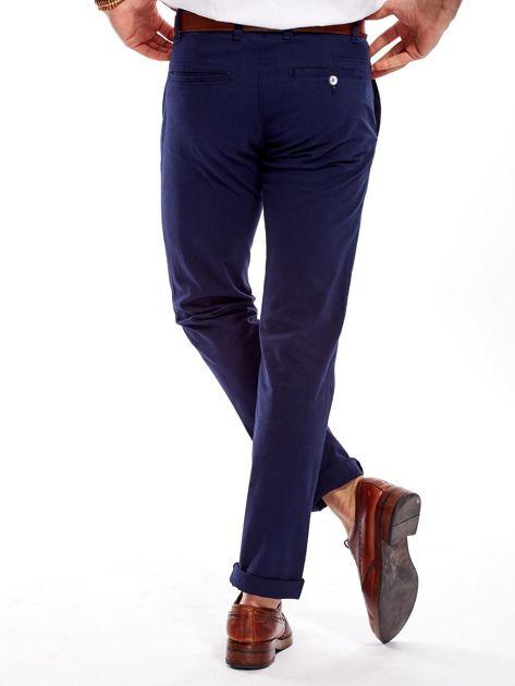 Granatowe spodnie męskie regular                              zdj.                              2