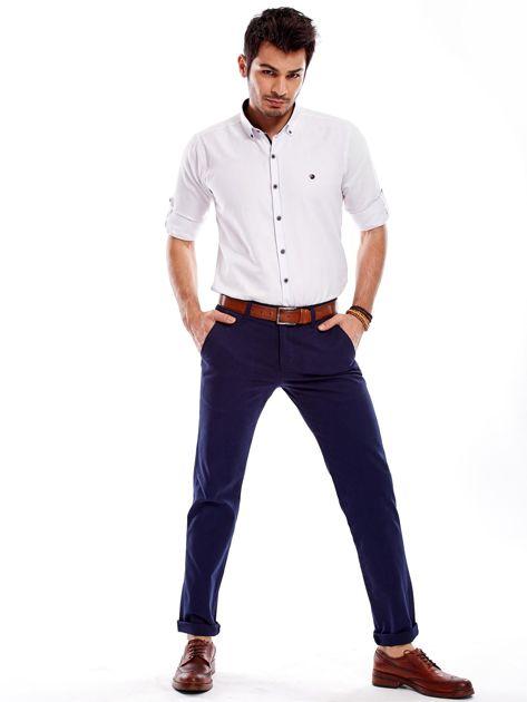 Granatowe spodnie męskie regular                              zdj.                              10