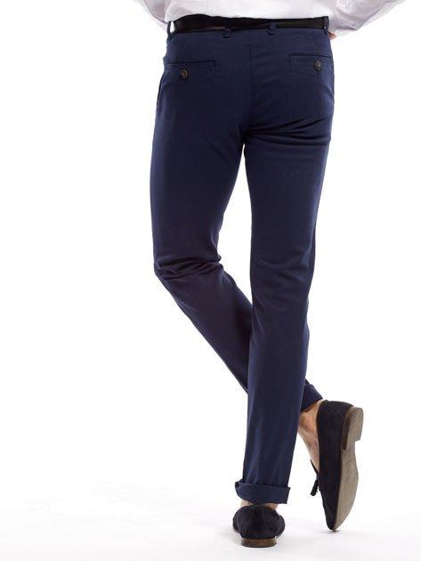 Granatowe spodnie męskie slim fit                              zdj.                              16