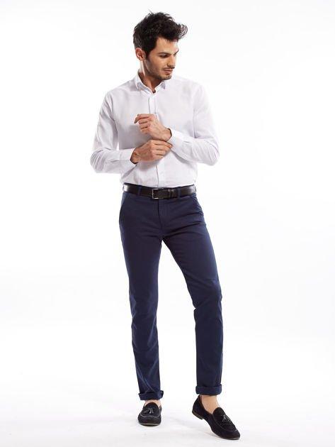 Granatowe spodnie męskie slim fit                              zdj.                              12
