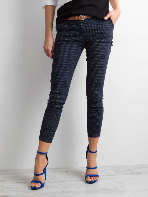 Granatowe spodnie w groszki                              zdj.                              1