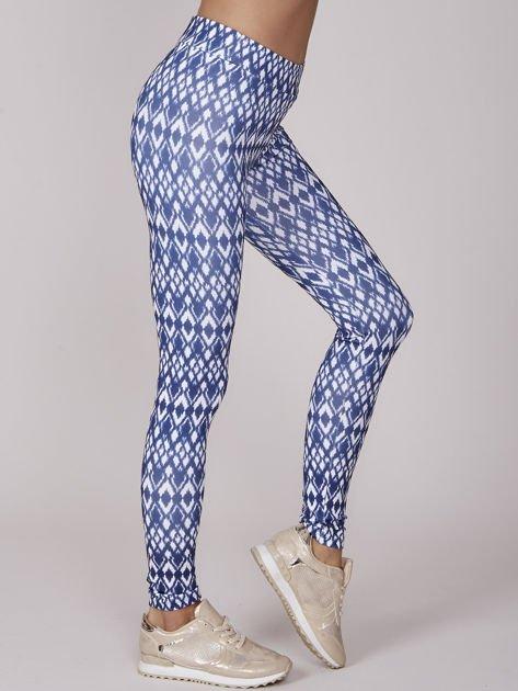 Granatowe wzorzyste legginsy