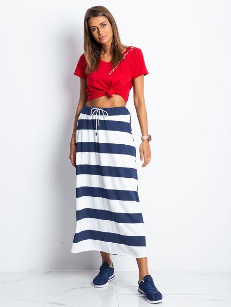 Granatowo-biała spódnica Freshest                              zdj.                              4