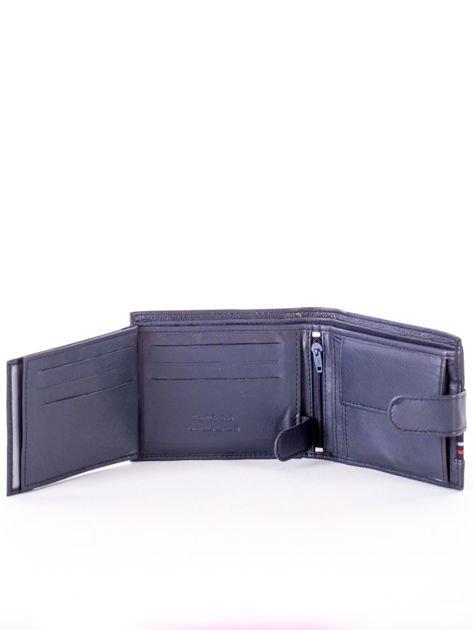 Granatowy portfel dla mężczyzny z materiałowym modułem                              zdj.                              5