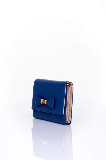 Granatowy portfel z kokardką                                  zdj.                                  3