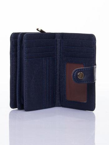 Granatowy portfel z zatrzaskiem                                  zdj.                                  4