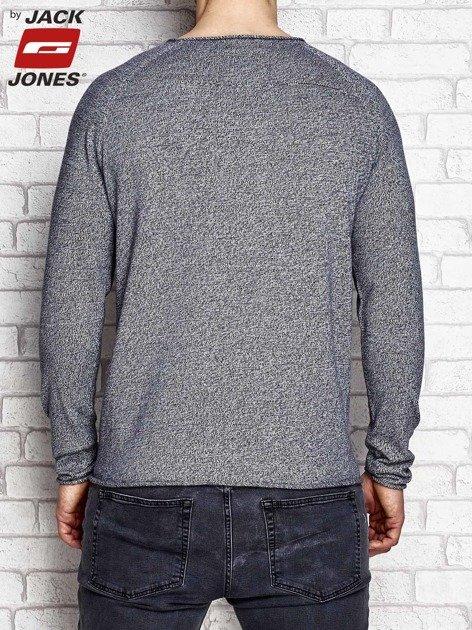 Granatowy sweter męski wzór melange