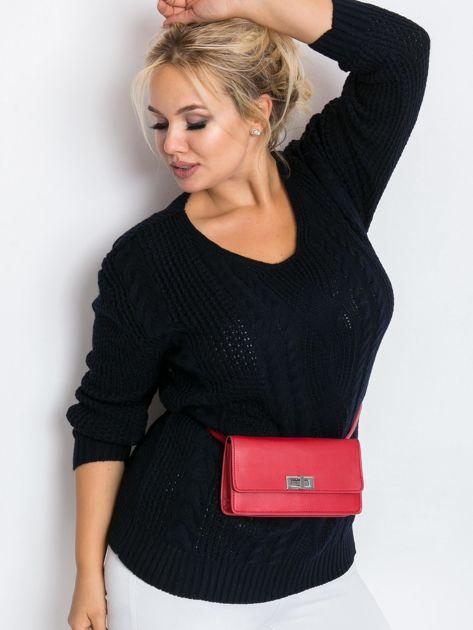 Granatowy sweter plus size Latte                              zdj.                              3