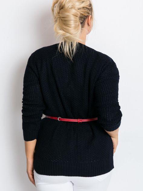 Granatowy sweter plus size Latte                              zdj.                              2
