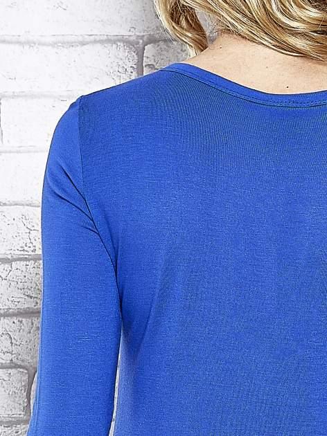 Granatowy sweter zapinany na guziczki Funk n Soul                                  zdj.                                  6