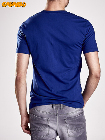 Granatowy t-shirt męski GARFIELD                                  zdj.                                  5