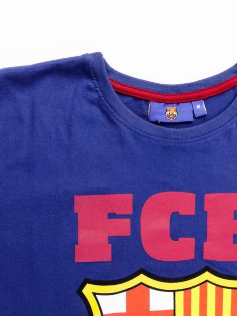 Granatowy t-shirt męski z motywem FC BARCELONA                                  zdj.                                  11
