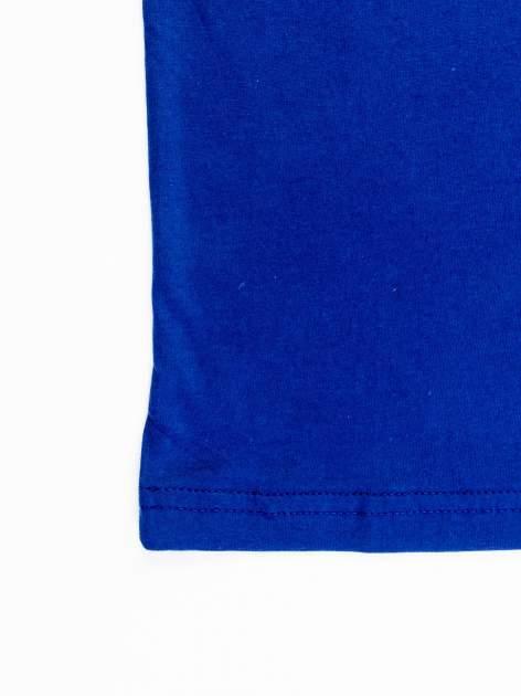 Granatowy t-shirt męski z nadrukiem FC BARCELONA                                  zdj.                                  12