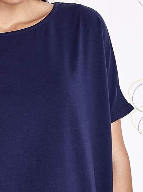 Granatowy t-shirt oversize                                  zdj.                                  5