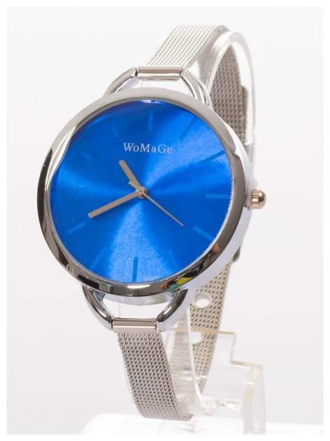 Granatowy zegarek damski na bransolecie                                  zdj.                                  2