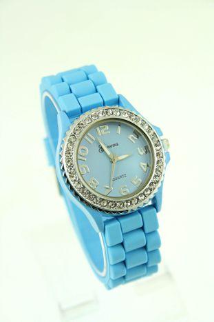 Granatowy zegarek damski na silikonowym pasku                                  zdj.                                  1