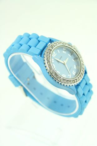 Granatowy zegarek damski na silikonowym pasku                                  zdj.                                  2