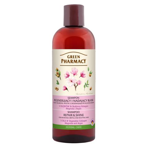 """Green Pharmacy Szampon do włosów regenerujący i nadający blask -Magnolia i Argan  500ml"""""""