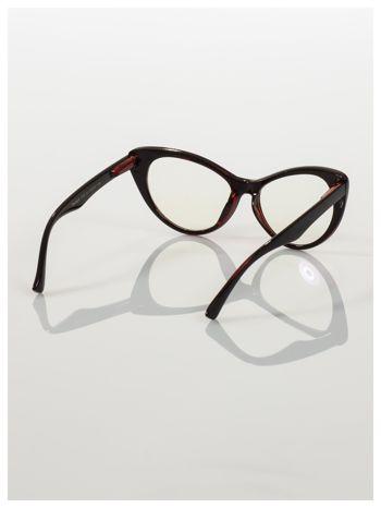 HIT 2016 Modne okulary zerówki KOCIE OCZY w stylu Marlin Monroe- soczewki ANTYREFLEKS+system FLEX na zausznikach                                  zdj.                                  4