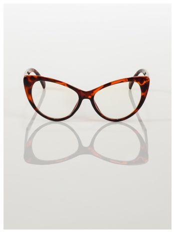 HIT 2016 Modne okulary zerówki typu KOCIE OCZY w stylu Marlin Monroe; soczewki ANTYREFLEKS+system FLEX na zausznikach                                  zdj.                                  4