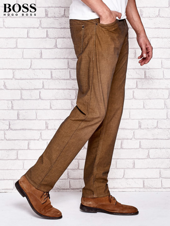 HUGO BOSS Khaki spodnie męskie                                  zdj.                                  2