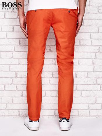 HUGO BOSS Pomarańczowe spodnie męskie                                  zdj.                                  3