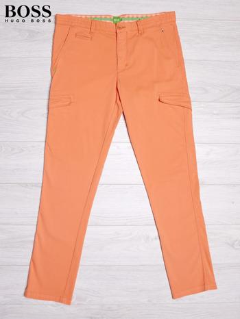 HUGO BOSS Pomarańczowe spodnie męskie z kieszeniami                                  zdj.                                  1