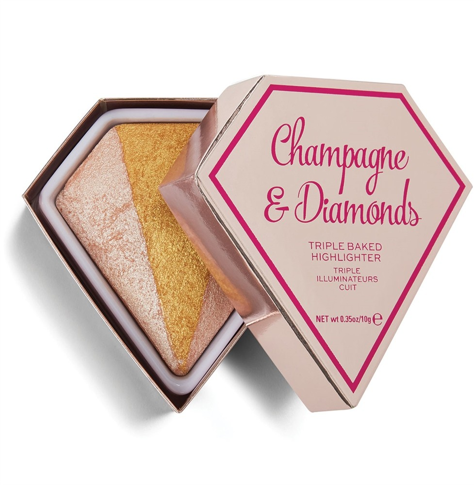 I Heart Revolution Diamond Triple Baked Highlighter Rozświetlacz Champagne & Diamonds 10 g