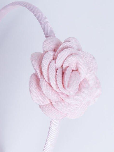 INCA Opaska do włosów jasnoróżowa z ozdobną różą                              zdj.                              3